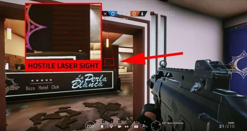 Laserpunkt des Gegners